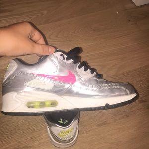 Silver Nike Air Maxes